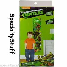 NEW TMNT GROWTH CHART SELF STICK & REMOVABLE TRAC HEIGHT CM & INCH (TF)