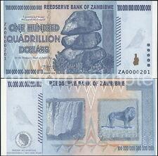 ZAMBIBWE ZA $100 QUADRILLION SPOOF FANTASY ART NOTE OF ZIMBABWE $100 TRILLION!