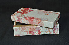 LABRAZEL Crocodile Floral Covered Box Leather Jamie Drake Italy New
