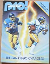 1981 Chicago Bears San Diego Chargers Program Payton Singletary Fouts Joiner VF