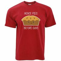 Mens Funny Christmas T Shirt Mince Pies Before Guys Xmas Slogan Joke Tshirt Tee