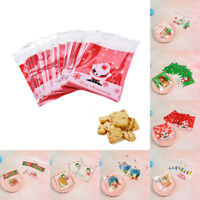 20pcs Plastic Christmas Self Adhesive Cookie Candy Chocolate Package Gift Bag