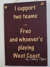Fremantle Freo versus West Coast Eagles Footy Sign Aussie Rules Bar Shed Dockers