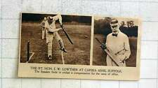 1919 Speaker Jw Lowther Enjoying Cricket At Capsea Ashe Suffolk