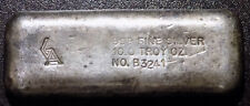 Golden Analytical GA 10 troy oz .999 silver bar S/N B3241