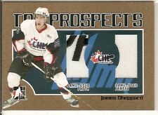 06-07 Heroes and Prospects CHL Top Gold James Sheppard Patch Jersey /10
