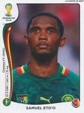 N°107 SAMUEL ETO'O # CAMEROON STICKER PANINI WORLD CUP BRAZIL 2014