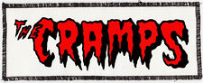 NATURAL & RED & BLACK CRAMPS PSYCHOBILLY PUNK GOTH PRINTED AND OVERLOCKED PATCH
