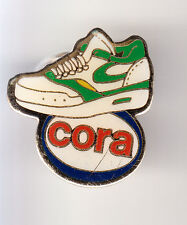 RARE PINS PIN'S .. HYPERMARCHE CORA SPORT CHAUSSURE SHOES NIKE FRANCE ~BU
