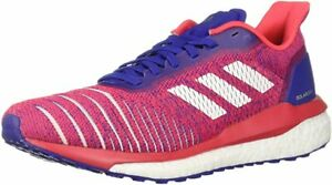 adidas Women's Solar Drive Running Shoe, Active Blue/White/Red, 10.5 B(M) US