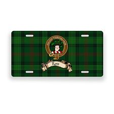 Ross Scottish Clan Hunting Tartan Novelty Auto Plate Tag Family License Plate