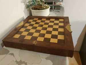 Schachbrett aus Holz Antik (Rarität) Sehr gute Qualität