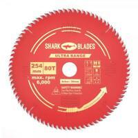 Shark Blades ULTRA Mitre saw blade 254mm x 80T Mitre fits Dewalt Bosch Makita
