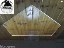 Replacement for Existing Wall Glass Corner Shelf by Clear Acrylic Shelf Shelves