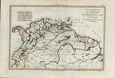 Grenada Colombia Cartagena Panama Bogota Guyana Amazons c.1770 antique map color