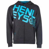 Henleys Men's Slope Full Zip Hoody Hoodie Charcoal Marl Small