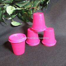Tupperware New Set 4 MIDGET Midgets Small Containers Raspberry Purple