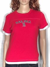 Boston Red Sox Logo MLB Baseball Juniors Size Large L Red Short Sleeve T-shirt