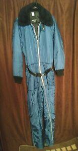 Vintage Sears Work'n Leisure Insulated Navy Snowsuit-Ski Suit Coveralls -Men's