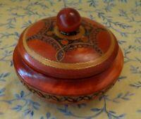 Vintage Danish Wooden Chocolate Box Trinket Box Denmark NWT