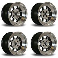 "4 x Rota BM8 Polished Silver Alloy Wheels - 15x8"" ET10 4x100 PCD 67.1mm CB"