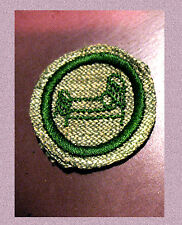 NEW 1930s HOME HOSPITAL NURSE Girl Scout Badge, Gray Green Fabric Iron-Bed RARE