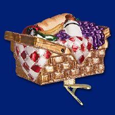 """Picnic Basket"" (32205) Old World Christmas Glass Ornament"