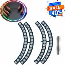 Ring Wall Clock 60 WS2812 Super Bright 5050 RGB LED Lamp Panel For Arduino SY