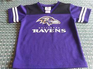 Baltimore Ravens Pullover Shirt Kids Size 3T,  Decal NFL Team Apparel