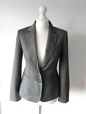 Ted Baker Woman Grey Wool Blend Jacket Blazer Size M