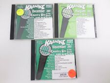 3X Karaoke Chart Buster Country hits 60227 60221  60225  CD+G player needed USED
