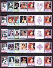 Omnibus, MNH, Queen Elizabeth II  60th birthday, 1986. Portraits gutter SCV-$172
