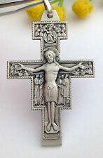 CROCEFISSO  DI SAN DAMIANO IN ARGENTO MASSICCIO 925 - 925 STERLING SILVER CROSS