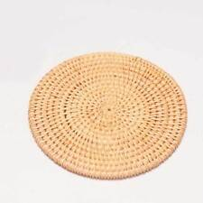 "5"" inch Handmade Rattan Mat Coasters Cast Iron Tea Pot teapot Cushion Pad"