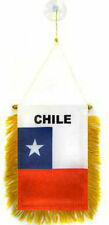 """Chile Mini Flag 4""""x6"""" Window Banner w/ suction cup"""