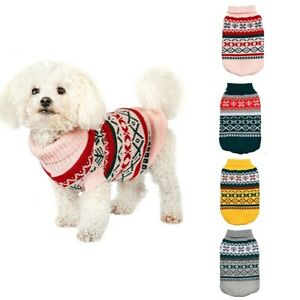 Dog Pet Cotton Jumper Knit Sweater Clothes Knitwear Coat Warm Costume Apparel