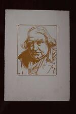 ✒ Pierre Eugène Vibert - Portrait d'Ernest RENAN Maîtres du livre Papier ARCHES