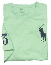 Polo Ralph Lauren Big & Tall Men's Green Big Pony Crew-Neck S/S T-Shirt