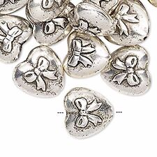 4015 Beads Acrylic Silver Heart 16mm PK24 **UK EBAY SHOP**