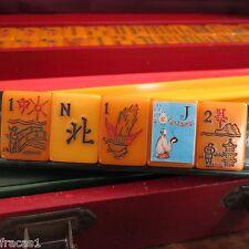 Vtg. Resin Apple Juice, Catalin Mahjong Set, 160 Tiles, Mah Jongg Bakelite
