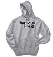 28eddf6a08e3 High Vibe Living Sweatshirt Hippie Rave Stoner Yoga Peace Gift Hoodie