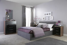 Fabric / Leather Double King Ottoman Gas Lift Storage Bed Frame Black Brown Grey