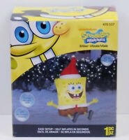 "Vtg Gemmy Christmas Airblown Inflatable Spongebob SquarePants 42"" Tall Lights Up"