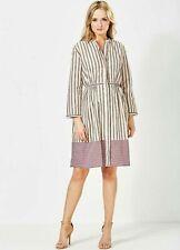 French Connection NWT UK size 10 blush pink stripe cotton shirt dress