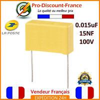 Condensateur MKP 0.015µF 100V 15nF 0.015uF 15000PF 153J100V Polypropylène
