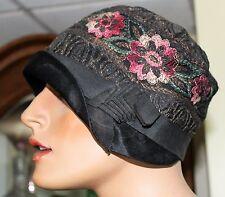 VINTAGE Genuine 1920s Metallic Thread HAT ORIGINAL FRENCH  FLAPPERS CLOCHE CAP