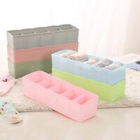 5 Cells Organizer Storage Box Tie Bra Socks Container Drawer Cosmetic Divider