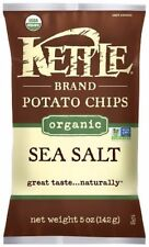 Kettle Brand Organic Potato Chips, 5 oz bags, Sea Salt 15 ea