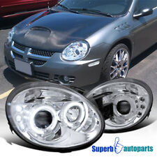 2003-2005 Dodge Neon Led Dual Halo Projector Clear Headlight Chrome SpecD Tuning