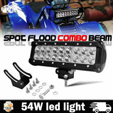 "10inch 54W LED Light Bar Spot Flood Work Offroad Driving Lamp ATV Car Truck 9"""